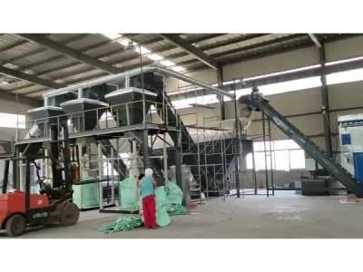 吨袋包装机及大倾角输送机生产线现场