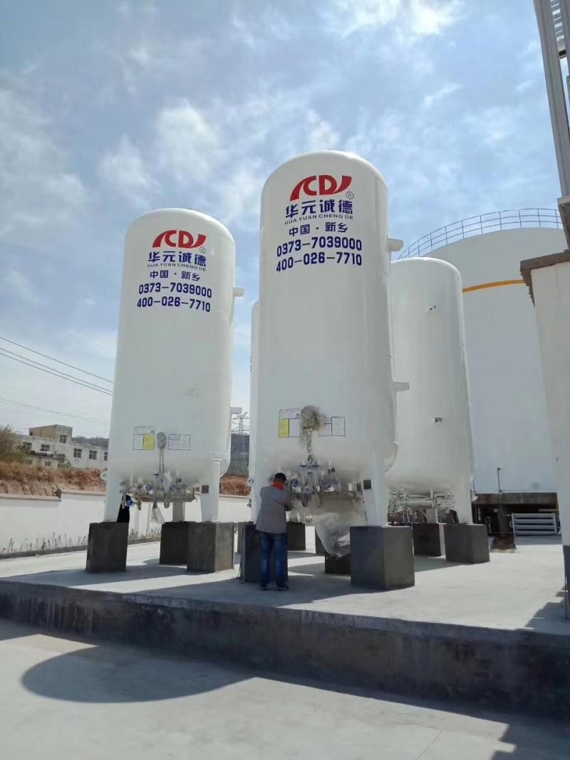 充装站-1台30m³液氧,1台30m³液氩,1台20m³液氮