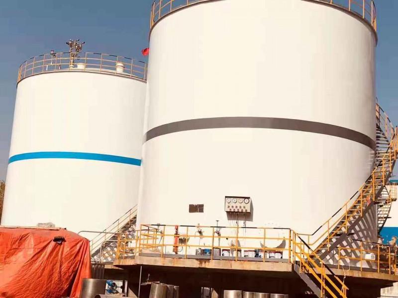 大型低温液体贮槽-秦皇岛两台1000方低温液体储罐项目
