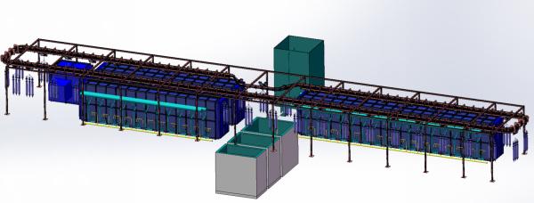 智能懸掛式燃氣熱處理生產線