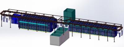 智能悬挂式燃气热处理生产线