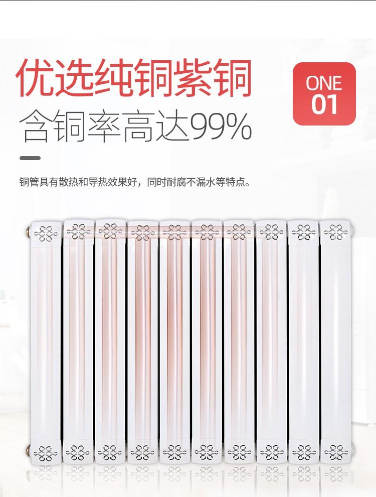 铜铝复合暖气片80*80(40*25)