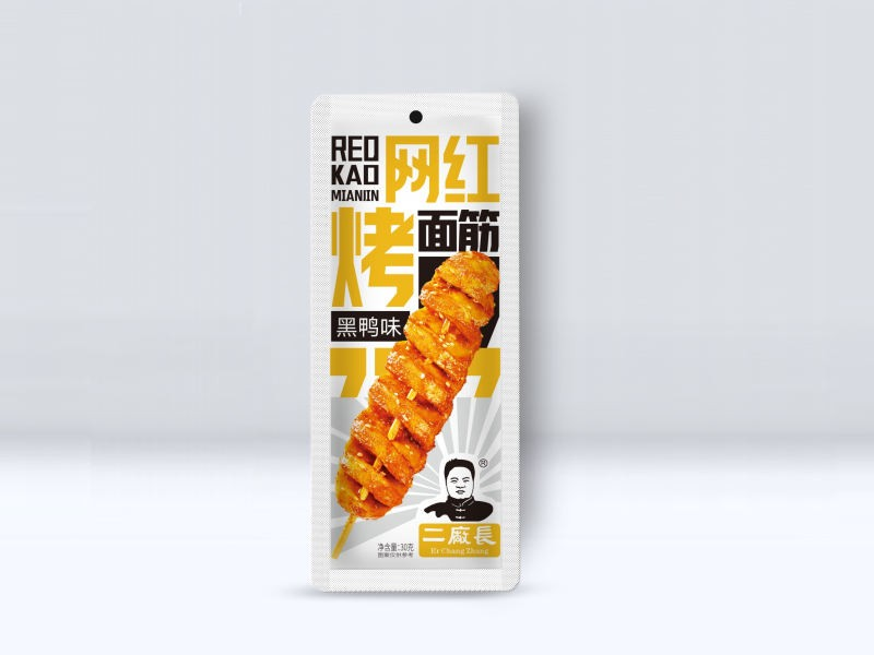 网红烤面筋-黑鸭味