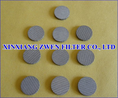 Sintered Wire Cloth Filter Disc