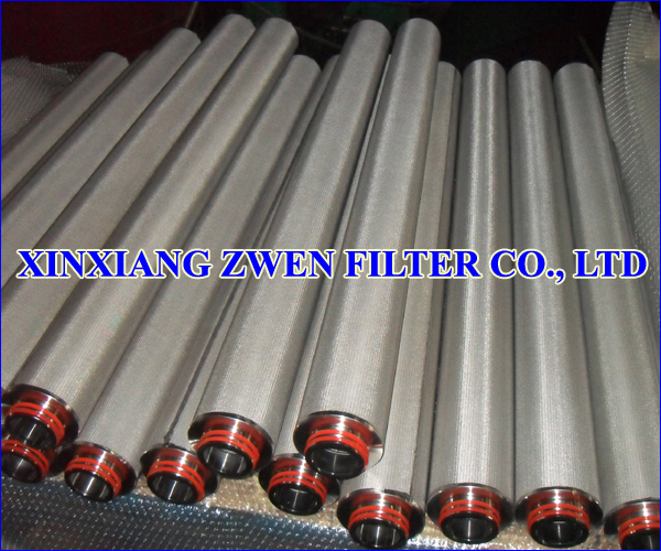 Cylindrical Sintered Wire Cloth Filter Element