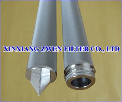 Cylindrical Sintered Fiber Felt Filter Cartridge